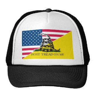 Americano y bandera de Gadsden Gorros