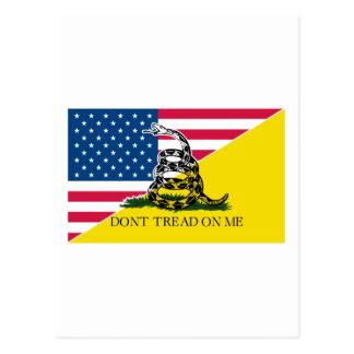 Americano y bandera de Gadsden Postales