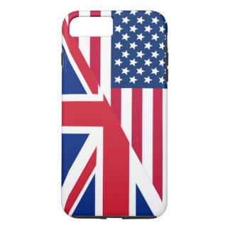 Americano y bandera de Union Jack Funda iPhone 7 Plus