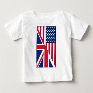 Americano y bandera de Union Jack Remeras