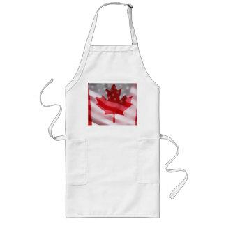 Americano y canadiense señala el delantal por medi