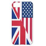 Americano y caso del iPhone 5C de la bandera de