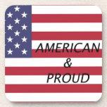 Americano y orgulloso posavasos de bebidas