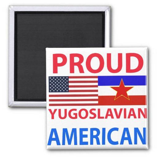 Americano yugoslavo orgulloso imán de frigorifico
