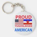 Americano yugoslavo orgulloso llavero