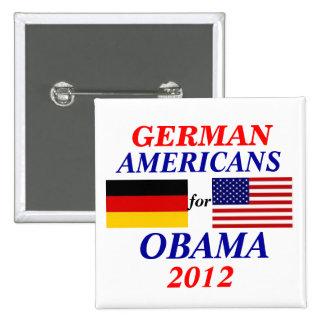 Americanos alemanes para Obama Pin Cuadrada 5 Cm