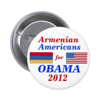 Americanos armenios para Obama 2012 Pin Redondo De 2 Pulgadas
