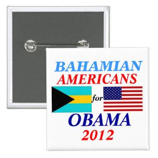 Americanos bahameses para Obama Pin