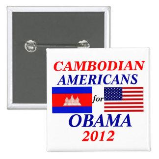 Americanos camboyanos para Obama Pin
