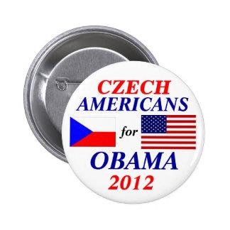 Americanos checos para Obama Pin Redondo De 2 Pulgadas