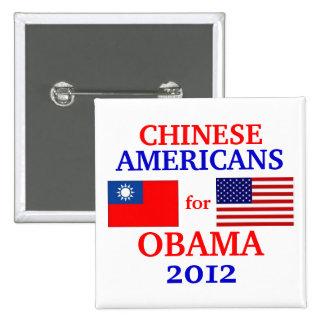 Americanos chinos para Obama Pins