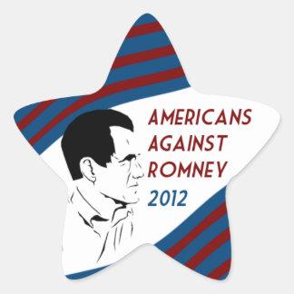 Americanos contra el pegatina de la estrella de