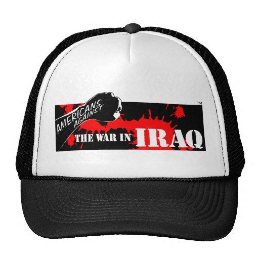 Americanos contra la guerra en Iraq Gorro De Camionero
