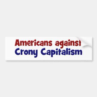 Americanos contra pegatina para el parachoques del pegatina para auto