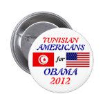 Americanos de los tunecinos para el botón de Obama Pin