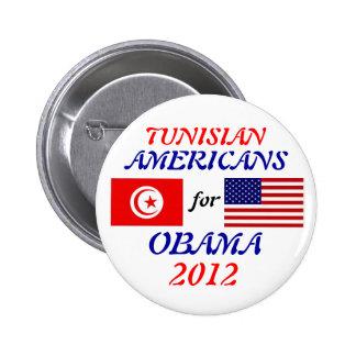 Americanos de los tunecinos para el botón de Obama