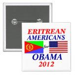 Americanos del Eritrean para Obama Pin