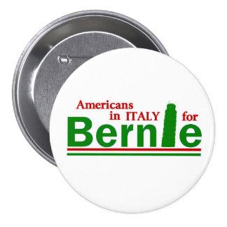 Americanos en Italia para Bernie Pin Redondo De 3 Pulgadas