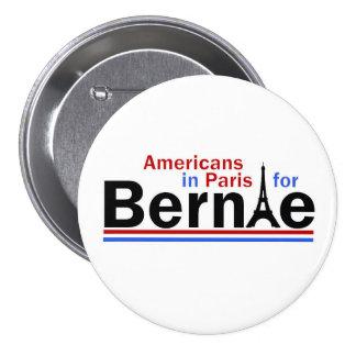 Americanos en París para Bernie Pin Redondo De 3 Pulgadas