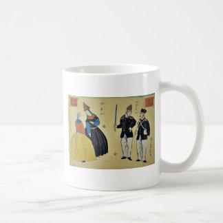 Americanos, franceses por Utagawa, Yoshitora Tazas De Café