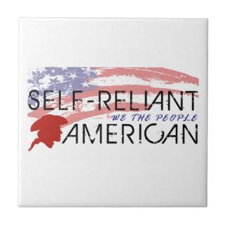 Americanos independientes azulejo cuadrado pequeño