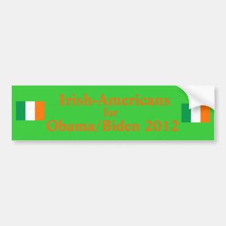 Americanos irlandeses para Obama Biden 2012 Pegatina Para Auto