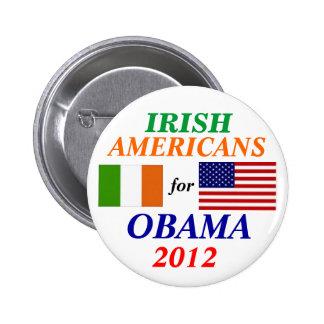 Americanos irlandeses para Obama Pin Redondo De 2 Pulgadas