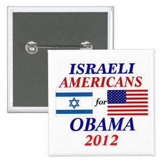 Americanos israelíes para Obama Pin Cuadrada 5 Cm