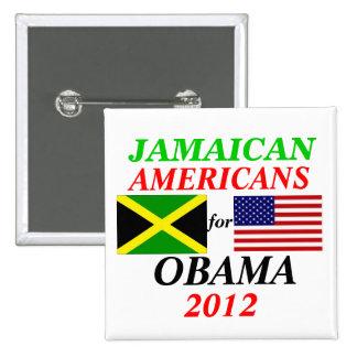 Americanos jamaicanos para Obama Pins