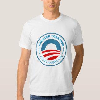 Americanos jovenes para Obama 2012 Poleras