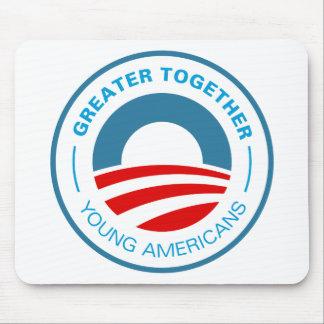 Americanos jovenes para Obama Alfombrillas De Ratón