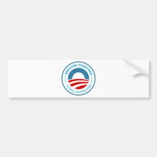 Americanos jovenes para Obama Pegatina Para Auto