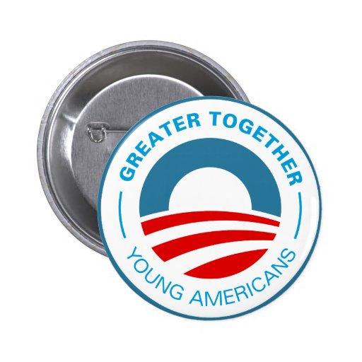 Americanos jovenes para Obama Pins