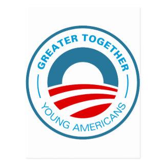 Americanos jovenes para Obama Postales