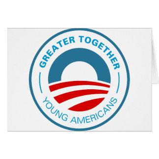 Americanos jovenes para Obama Tarjeta De Felicitación