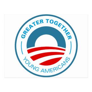Americanos jovenes para Obama Tarjetas Postales
