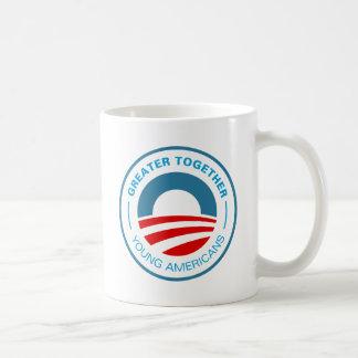 Americanos jovenes para Obama Taza