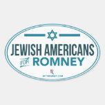 Americanos judíos para el pegatina del óvalo de Mi