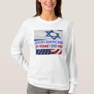 Americanos judíos para la camiseta 2012 de Romney