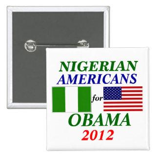 Americanos nigerianos para Obama Pin