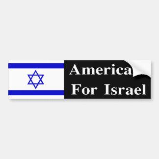 Americanos para Israel Pegatina Para Auto