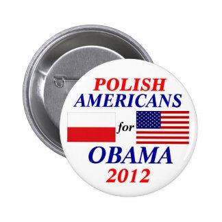 Americanos polacos para Obama Pin Redondo 5 Cm