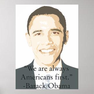 Americanos primero poster