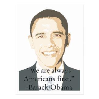 Americanos primero tarjetas postales