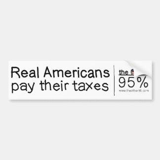Americanos reales pegatina para auto