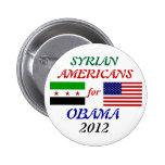 Americanos sirios para el botón de Obama 2012 Pins