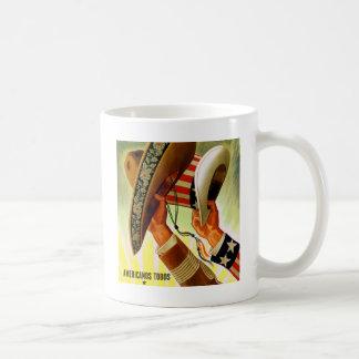 Americanos Todos Bicultural WWII Poster Coffee Mug