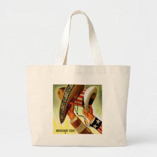 Americanos Todos Bicultural WWII Poster Jumbo Tote Bag