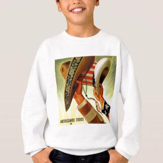 Americanos Todos Bicultural WWII Poster Sweatshirt