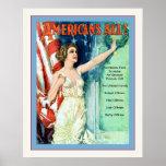 ¡Americanos todos! Guerra mundial personalizada ~  Poster